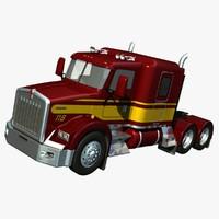 3d model truck t800 roof