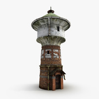 fantasy water tower 3d model