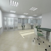 bank interior furniture 3d max
