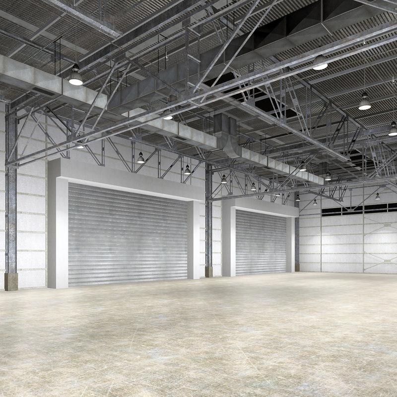 Warehouse Interior Obj
