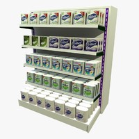 3d toilet roll shopping shelf
