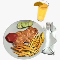 3d model chicken chop updated
