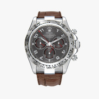 3d model rolex daytona brown leather