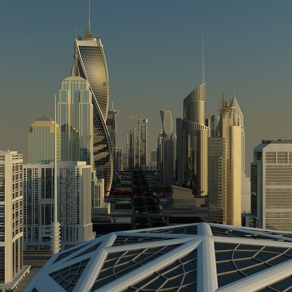 definition cityscape 3d model - High Definition City 2013... by Giimann