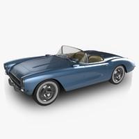 chevrolet corvette 1956 3d max