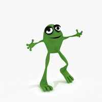 Cartoon Frog (Rigged)