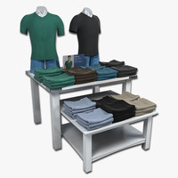 Mens T-Shirt Display Tables