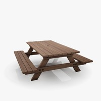 picnic table 3d max