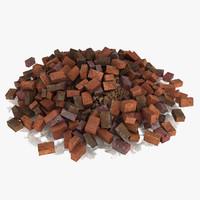Brick Stone Debris Pile