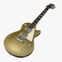 les paul goldtop 3d model