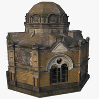3d old crypt model