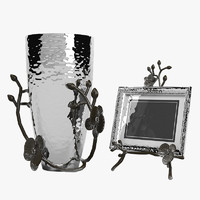 3d model of black orchid vase photo frame