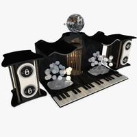 fantasy piano 3d c4d