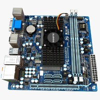 motherboard gigabyte e350n-usb3 3d model