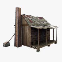 3ds max old wooden house games