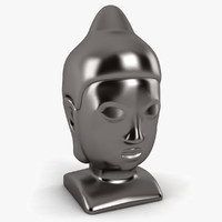 3d buddha head statue model