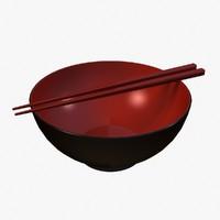 miso bowl 3d max