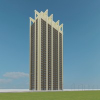new skyscraper 96 3d max