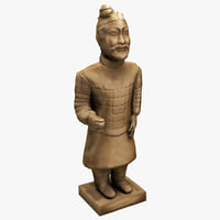 3d model china terracotta warrior 3