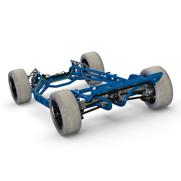 3d model corvette chassis - Corvette Chassis... by 3d_molier