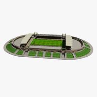 gerland stadium football 3d max