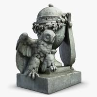 owl headstone 3d max