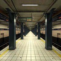 subway station 2 scene 3d max
