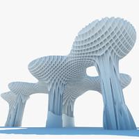 metropol parasol 3d model