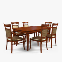 3d model table chairs 2
