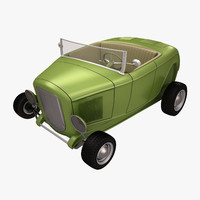 3d toon car roadster