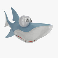 shark cartoon 3d max
