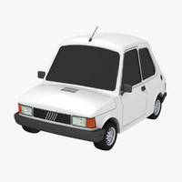 3d toon car fiat 147 model