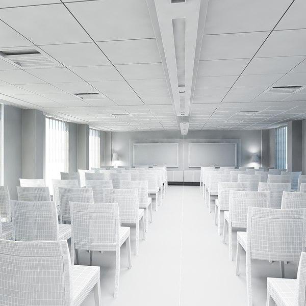 Office training room interior 3d max for 3d max interior design course