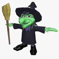 3d model halloween witch