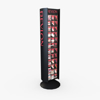 retail display - cosmetics 3d model