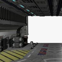 3ds max scifi hangar