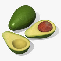 avocado fruit persea 3d max