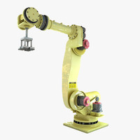 3d industrial robot arm model