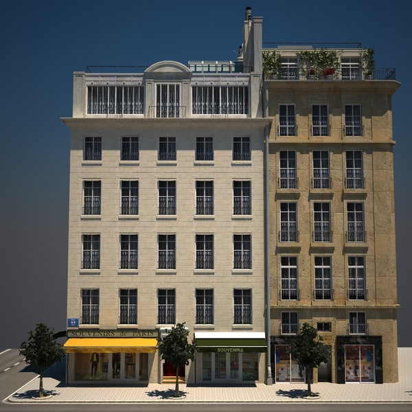 Old Apartment Building: 3ds Max Apartment Buildings Hd 01