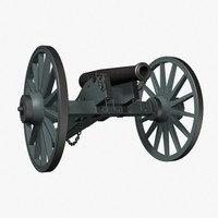 3d model gun napoleon cannon