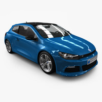 VW Scirocco 2011 - Low Poly