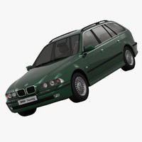 3d bmw e39 luxury model