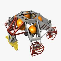 msl sky crane 3d 3ds