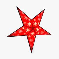 x-mas star 3d max