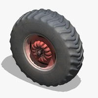 tractor wheel 3d dxf
