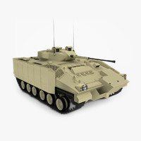 3d british warrior infantry tank model