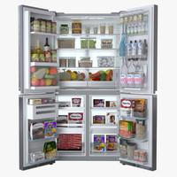 3d model refrigerator lg dios