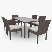 3d garden patio furniture set model