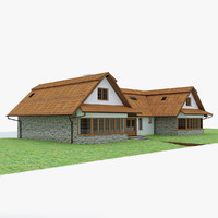 3d house garden interior model