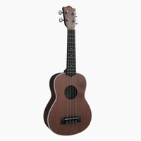 3d model guitar string instrument